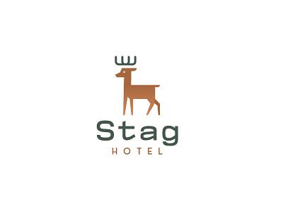 Stag Hotel - logo design brand identity designer brand brand identity logodesign stag deer logo illustration design logo branding brand identity design