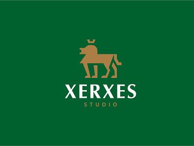Xerxes - logo design brand identity designer lion logo brand identity brand geometric logodesign logo design illustration branding brand identity design