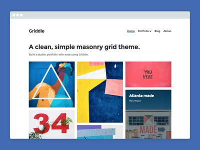 Griddle – WordPress Portfolio Theme blog portfolio theme wordpress