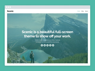 Scenic – WordPress Portfolio Theme photography blog portfolio theme wordpress