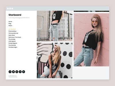 Starboard – WordPress Portfolio Theme masonry grid photography blog portfolio theme wordpress