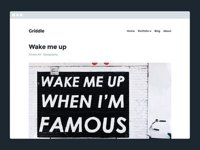 Griddle – WordPress Portfolio Theme photography blog portfolio theme wordpress
