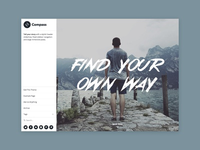 Compass Tumblr Theme photography blog portfolio theme tumblr