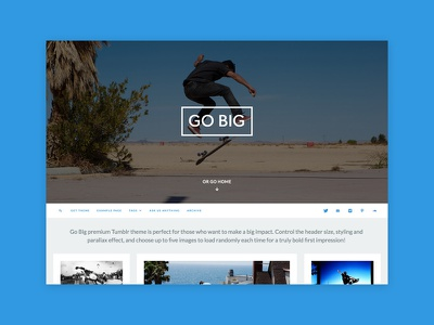 Go Big Tumblr Theme grid masonry photography blog portfolio theme tumblr