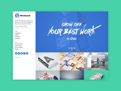 Workbook Tumblr Theme grid photography blog portfolio theme tumblr