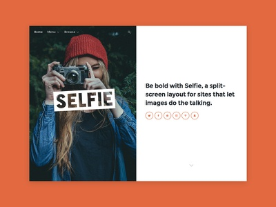 Selfie Tumblr Theme personal photography blog portfolio theme tumblr