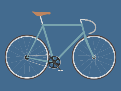 Fixie fixie bike bicycle illustration