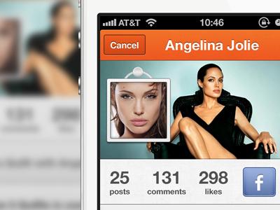 Quilt Profile ui iphone profile app header photo pic avatar quilt