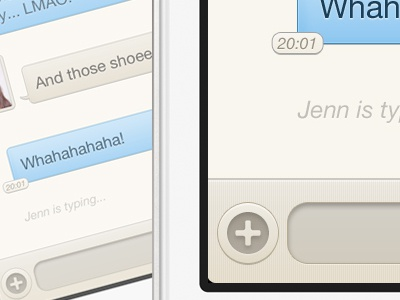 iPhone Chat UI ui chat iphone bubbles avatar