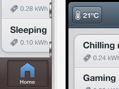 Efficient Moods App iphone ui list tapbar