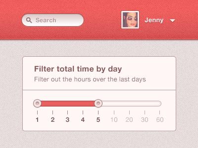 Day filter - Slider slider ui filter day filter select search avatar dropdown