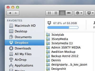 Sharing Is Caring dropbox extra info mac os x integrated ui interface notes dropbox xtra features