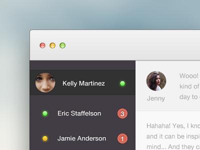 Chatterrrrrrr ui clean chat mac os x app light concept interface video youtube beatbox