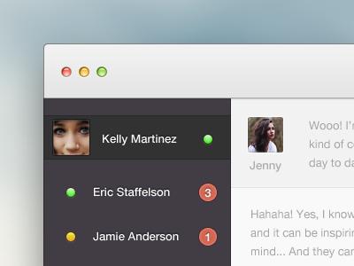 Chatterrrrrrr fixes ui app chat interface beatbox clean concept light mac os x video youtube