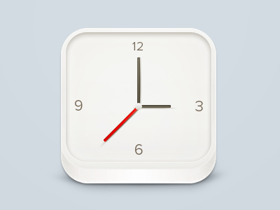 Clock clock time hours minutes seconds icon iphone