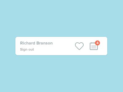 Profile profile pop-up notes sign out plain light