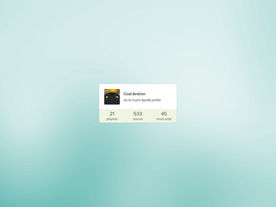 Spotify profile widget spotify widget coal music profile playing playlist psd freebie fun