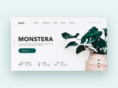 Plant website home page concept