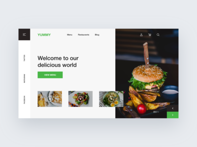 Food Delivery Website home page