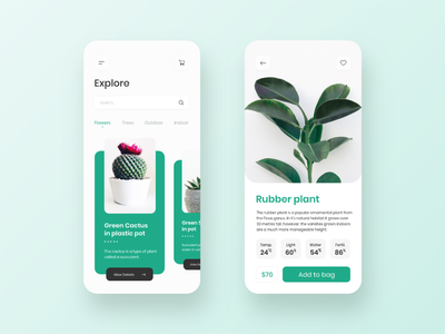 Plant shop app design