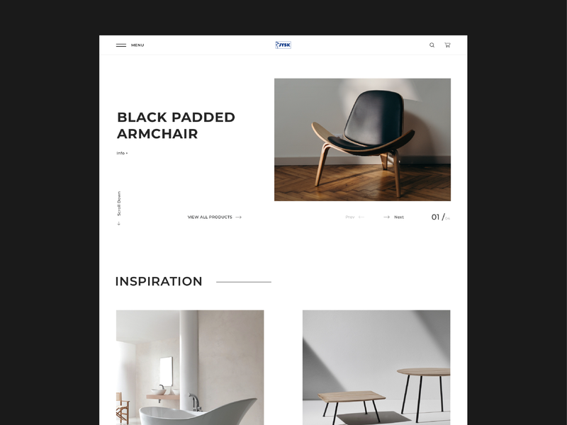 JYSK | Redesign concept e-commerce web design furniture website online shop minimalistic modern minimalist furniture website webdesign design app design minimal colors web ux ui dribbble