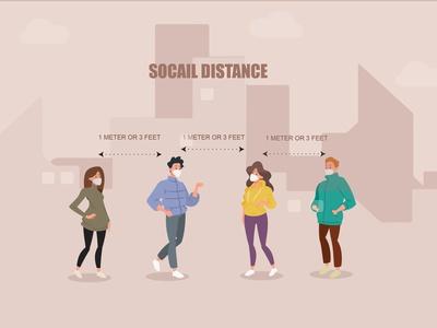 Social Distance free graphics free graphics free vectors freebies concept n95 social distancing corona infographic behance typography graphic design graphic out prevention clean mask character corona vector coronavirus
