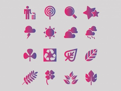 Nature Icons web icons icon set nature iconography icon design free icons icons ui logo vector design free vector graphicout graphic behance graphic design graphic out