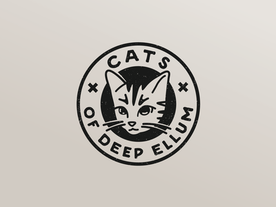 Cats of Deep Ellum design branding typography logo illustration rescue texas dallas deep ellum cat