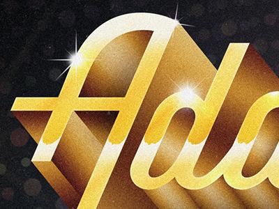Disco Chrome Text chrome text typography bling gold disco addys 70s retro el paso