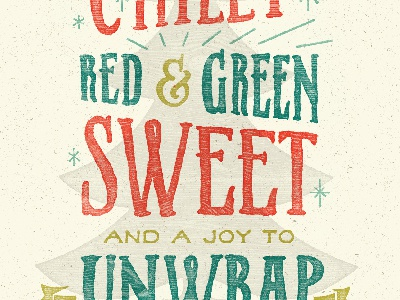 Christmas in El Paso christmas el paso card tamales red green sweet chilly xmas holiday typography design