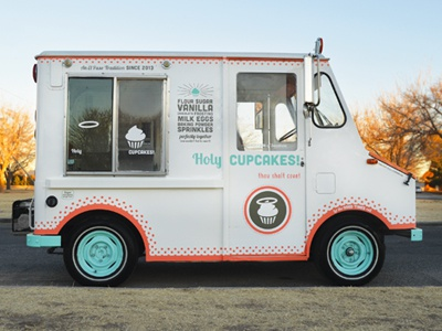 Holy Cupcakes! Truck texas el paso sweets design truck food cupcakes holy