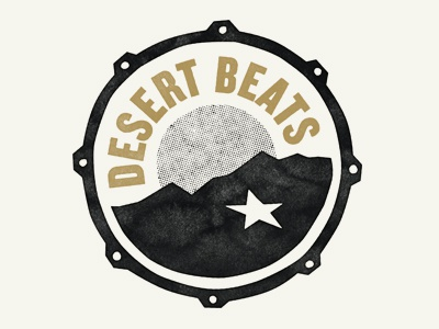 Desert Beats Logo blog bass kick star texas el paso logo drum drums beats desert