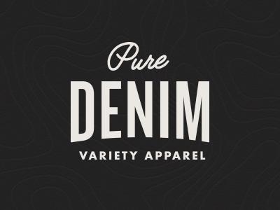 Pure Denim Logo brand clothing design rebrand logo apparel