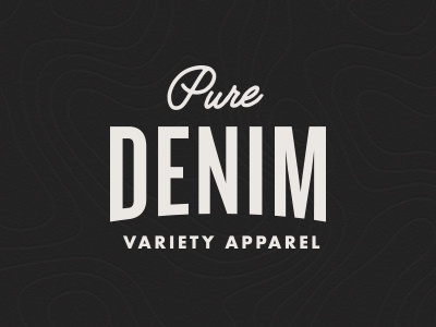 Pure Denim Logo brand clothing design rebrand logo apparel