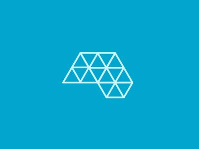 Advanced Neurology triangle geometric logo medical brain neurology advanced