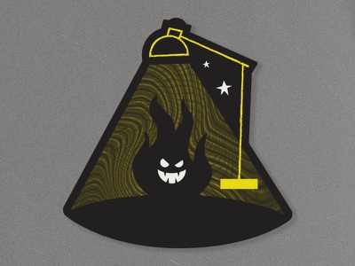 Ghost Light dark stars night flame halloween sticker texas el paso creative lamp light ghost