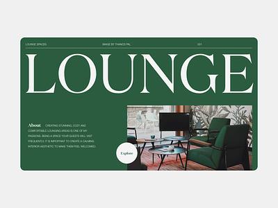 Interior Designer - Layout Exploration furniture typography adobe xd minimalist web ui design digital