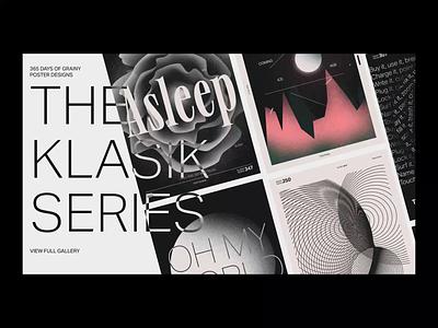 Klasik Poster Gallery - Introduction Motion loading intro animation motion effects scroll gallery posters klasik typography web minimalist design digital