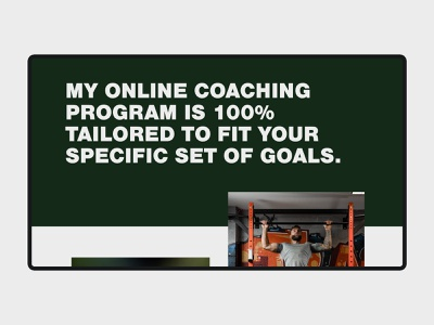 Irish Viking Fitness - Website Design website lenus lenus coach fitness coaching typography adobe xd web minimalist digital design