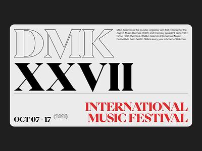 Music Festival - Style Exploration minimal clean serif festival music festival typography adobe xd web minimalist digital design