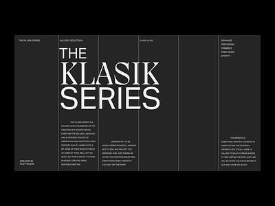 Klasik Gallery Web Exploration - About page whitespace posters interaction gallery klasik typography web minimalist digital design