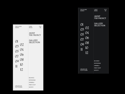Klasik Gallery Web Exploration - Mobile Menu posters klsk klasik clean white space modern ui typography adobe xd web minimalist digital design