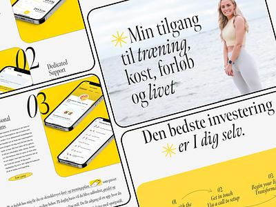 Skoubo Fitness - Web Design Concept stylish whitespace online coach coaching fitness lenus ui typography web minimalist digital design