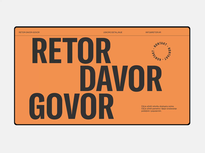 Retor - Motion and Design Concept striking bold white space animated smooth vibrant modern branding gt america typography adobe xd web minimalist digital design