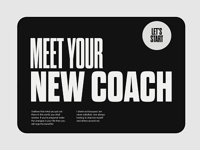 Thom Evans Fitness - Web Design modern whitespace gothic striking bold lenus fitness adobe xd typography web minimalist digital design