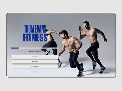 Thom Evans Fitness - Web Motion lenus bold modern whitespace online coach coaching fitness motion ui typography adobe xd web minimalist digital design