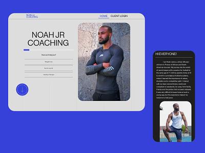 Noah Jr. Coaching - Web Design lenus coaching fitness motion design interaction ui typography adobe xd web minimalist digital design