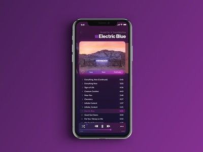 Music App - Album View Concept music player music app ui music app adobe xd ui ux digital design