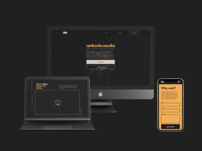 Ambedo Media - Branding and Web Design adobe xd minimalist landing page digital branding design brand identity logo brand identity design logodesign graphicdesign uxui ux webdesign branding ambedo media