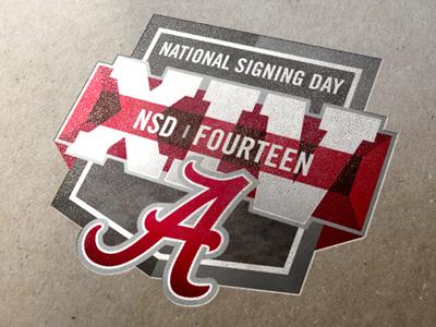 Alabama Crimson Tide Signing Day Logo